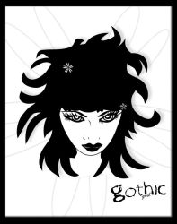 Gothic Girl by buddygirlgreetings