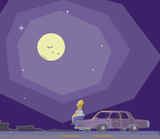 Mother simpson Pixel gif. by Agustereon