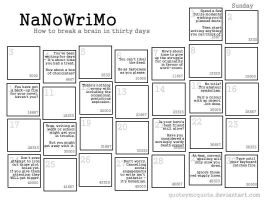 NaNoWriMo Calendar 2008 by quoteymcquote
