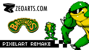 BATTLETOADS PixelartRemake VIDEO by zeoarts