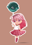 Chibi with pufferfish by Soph-art-lover