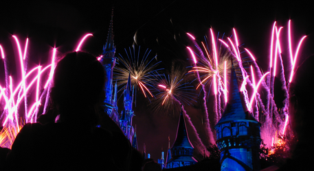 Castle Fireworks Show IMG 1080 by TheStockWarehouse
