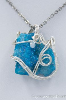 Wire Wrapped Druzy Chunk by youvegotmaille