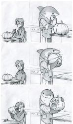 Carving Shark by RobtheDoodler