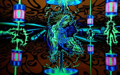 NeuroTronic Pinball Dancers by Punkadelik-Art
