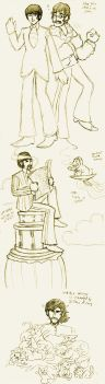 YS Beatles scribbles by mistress-samwise