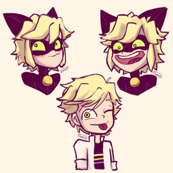 Adrien/Chat Noir requests from Tumblr/Twitter by Chromel