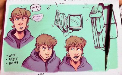 Lawrence expressions study 2 by Danger-Jazz