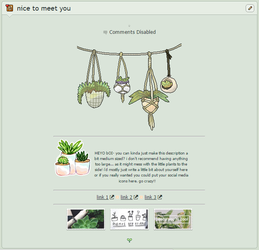 f2u   non-core plant aesthetic page code by TwistedTwisters