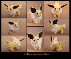 SOLD Jolteon Plush Beanies by Avanii