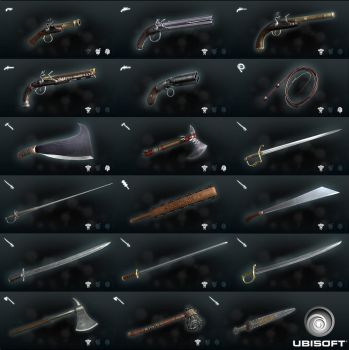 Assassin's Creed III: Liberation Weapons by carny87