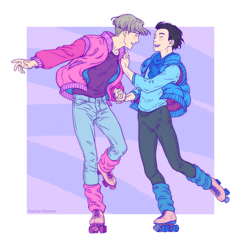 Victuuri on Wheels by kayshasiemens