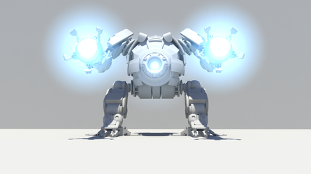 Robot made in Autodesk Maya by Mejsel