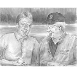 Kenny n Papa at the ball field portrait by mozer1a0x