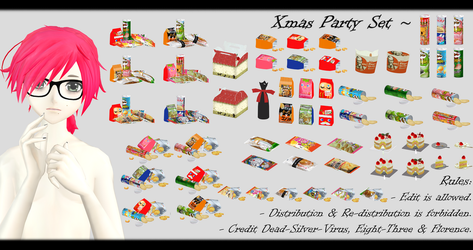 [MMD] Xmas Party Set DL ~ by o-DSV-o