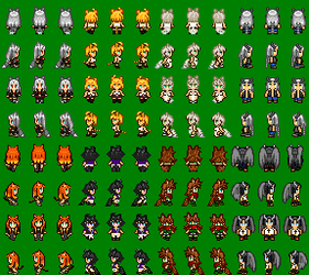 Deathblight and Friends. RPG sprite for Crescentia by LirikTrend