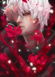 remember the devil was once an angel. -kaneki by mijanee
