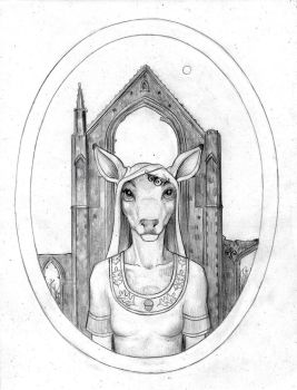The White Doe of Rylstone by Andibi