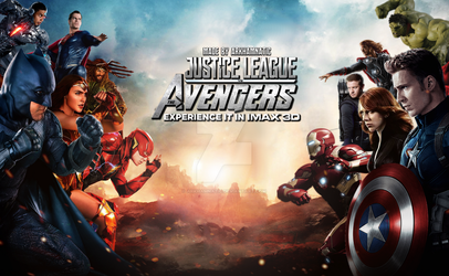 Justice League vs The Avengers movie poster by ArkhamNatic