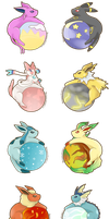 Eeveelutions by SeviYummy