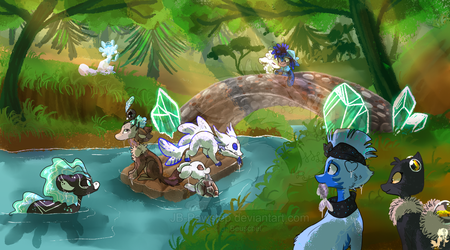 Stonebridge in Emerald Grove by JB-Pawstep