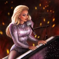 Lady Gaga: Super Bowl 2017 by daekazu