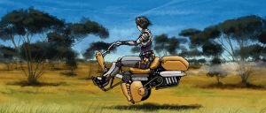 Speedy - Hovercycle by longgi
