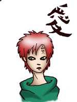 Gaara Colored by Bluence