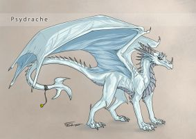 Psydrache - cell shaded concept sketch by Thalathis