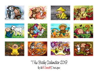 The Baby Calendar 2019 by spaceship505