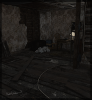 Resident Evil 7 - C01 2nd floor stairs by KellWesker