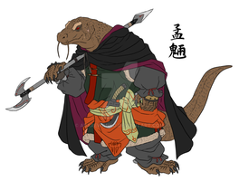 commander of guardian - Komodo dragon by abarewanko