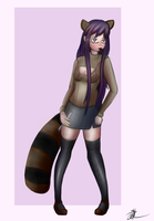 Raccoon Yuri by ChromeFlames