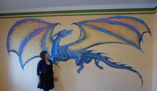 Wall painting and me :D by Dragonwinger