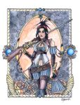 Commission - Lady Mechanika in Watercolor and Ink by indigowarrior