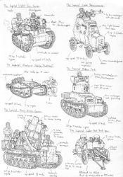 Sketches- Imperial armoured vehicles by PenUser