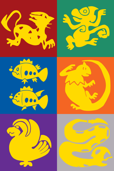 Pokemon Legends of The Hidden Temple Team Emblems by DragonKazooie89