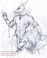 WIP Anubis and Amut 1 by frisket17