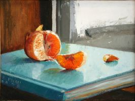 Tangerine on Windowsill by thienbao