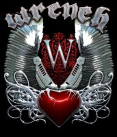 Wrench - T-shirt - Chrome Wings by JWraith