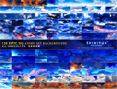 120 EPIC HQ ANIME SKY BACKGROUNDS - PACK 12 by ERA-7