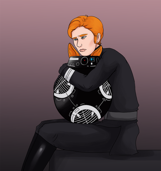 Hux and BB-9E by Sparr0wlicious
