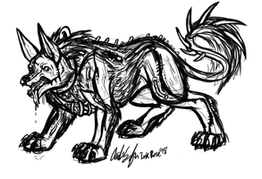 Creature Design Wolf Panther by InkRose98