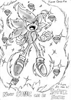 Sonic Pic done in Japan Expo 2 by RaianOnzika