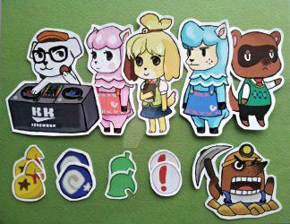 Animal crossing stickers! by QueenJellybeany