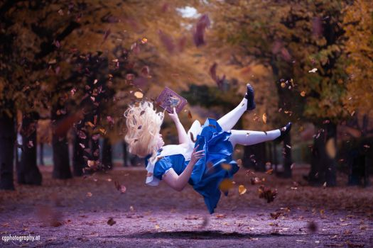 Falling Down The Hole - Alice in Wonderland by CorneliaGillmann