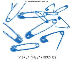 PHOTOSHOP BRUSHES : pins by darkmercy