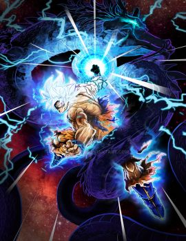 Goku Ultra Instinct - Cosmic Dragon fist by Faozan92