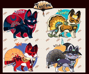 Halloween Foxfan//Auction// CLOSED by Belliko-art