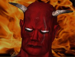 Red Demon with background by DemonsmeetsAngels